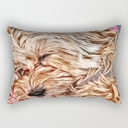 Sleeping Baby Copper the Havapookie Rectangular Pillow