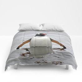 Gentoo Penguin in the Sea Comforters