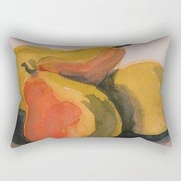 Three Anjou Pears in a Bowl Rectangular Pillow