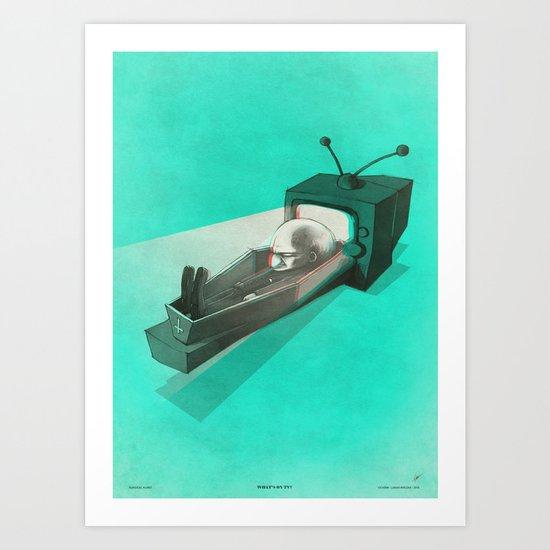 What's on TV? Art Print