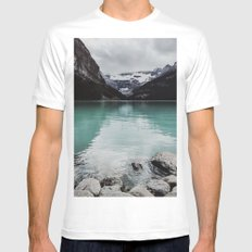 Lake Louise, Canada Mens Fitted Tee MEDIUM White