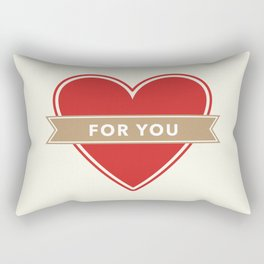 For You Heart Rectangular Pillow