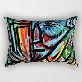 Elon - Abstract Expressionism Rectangular Pillow