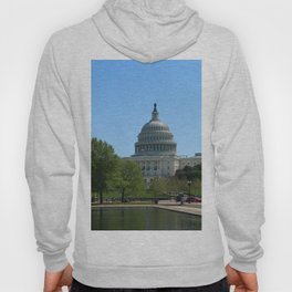 Capitol View With Reflection Pool Washington DC Hoody