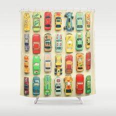 Car Park Shower Curtain