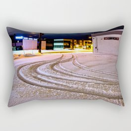 Tracks in the Snow Rectangular Pillow