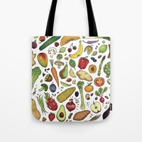 food Tote Bags featuring Food by Sam Magee