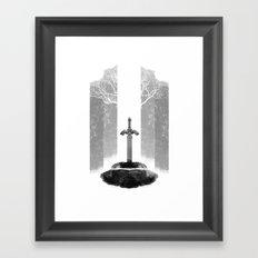 The Legend of Zelda: The Master Sword Framed Art Print