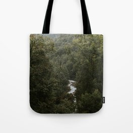 Forest Valley River - Landscape Photography Tote Bag
