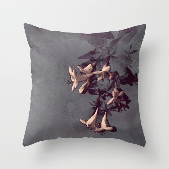 Evening Flowers Throw Pillow