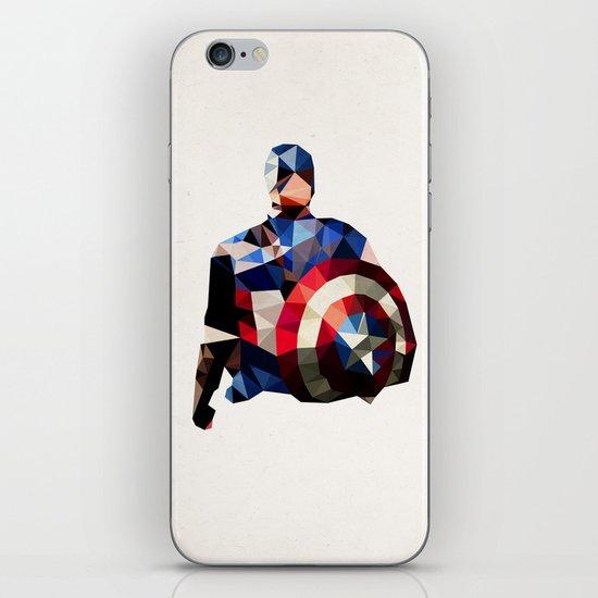 Polygon Heroes - Captain America iPhone & iPod Skin