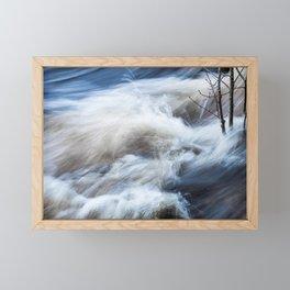White water Framed Mini Art Print