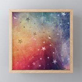 Starry emergence Framed Mini Art Print