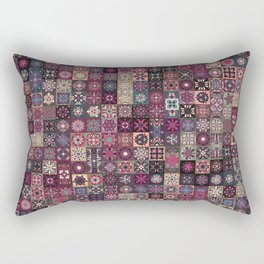 Colorful abstract tile pattern design Rectangular Pillow