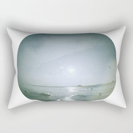 birds flying with icky thumbprint Rectangular Pillow