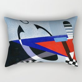Abstract composition of alphabetic construction. Rectangular Pillow