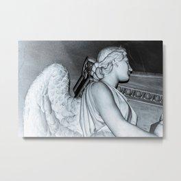 Angel in St Peters Basilica B/W Photo by Larry Simpson Metal Print