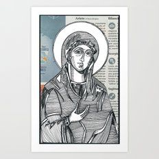 Madonna of Today's Horoscope Art Print