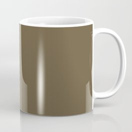 MILITARY OLIVE Dark Solid Color Coffee Mug