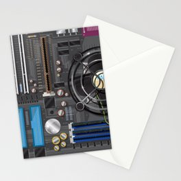 Computer Motherboard Stationery Cards