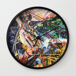 The Bounty Painting Wall Clock