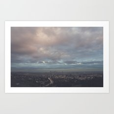 after the rain, Los Angeles Art Print