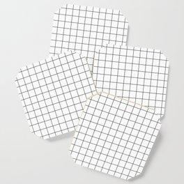 Grid Simple Line White Minimalist Coaster