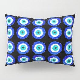 Evil Eye Amulet Talisman - on black Pillow Sham