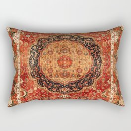 Seley 16th Century Antique Persian Carpet Print Rechteckiges Kissen