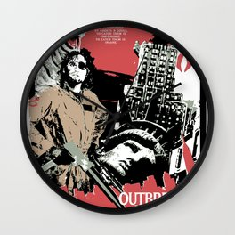 Outbreak in New York Wall Clock