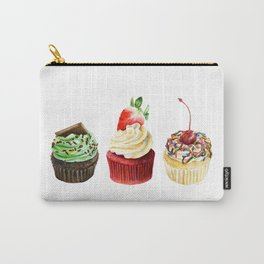Three Cupcakes Carry-All Pouch