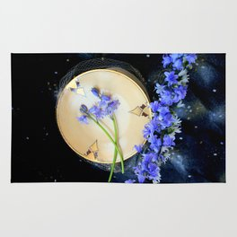 The Bluebells And Gold Fleet Rug