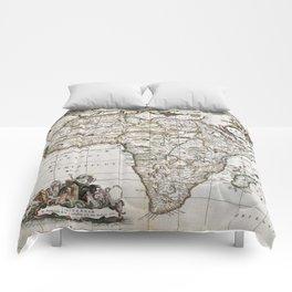 Vintage Africa map Comforters