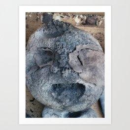 ambivalent or happy head? Art Print