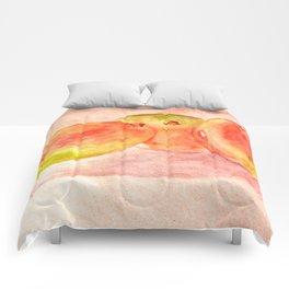 Mango Watercolor Comforters