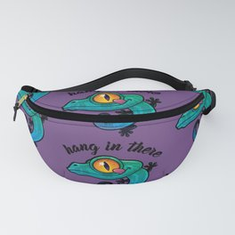 Hang In There Colorful Gecko Fanny Pack
