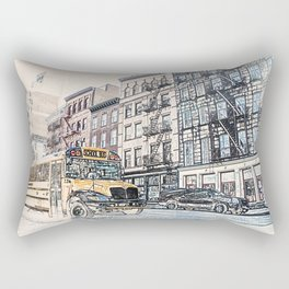Bus New York City Rectangular Pillow