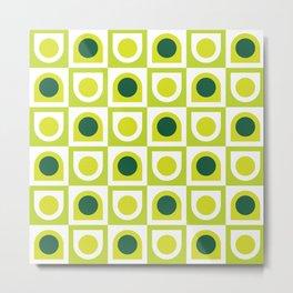 Geometric Pattern 210 (lime green) Metal Print