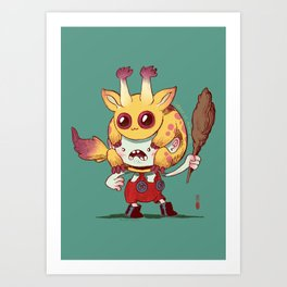 Legend of Animal Hat: Grigor and Ox Art Print