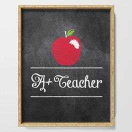 A+ Teacher Serving Tray