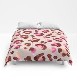 Leopard Print – Pink & Mauve Palette Comforters