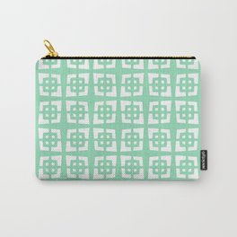Mid Century Modern Pattern 271 Mint Green Carry-All Pouch