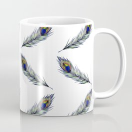 The Peacock's Feather Pattern Coffee Mug