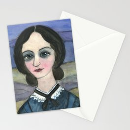 "Charlotte Bronte Writers Portrait, ""Charlotte on the Moors"" Stationery Cards"