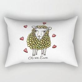 Olive Ewe Rectangular Pillow