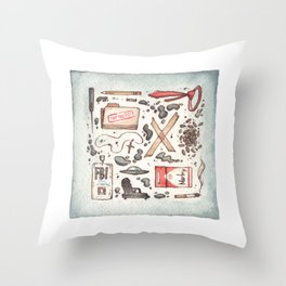 Collection of Ex Files Throw Pillow