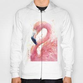Pink Flamingo Watercolor Hoody