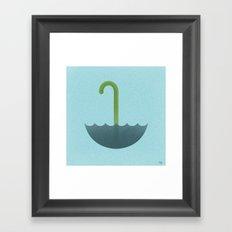Looks like rain or monster Framed Art Print