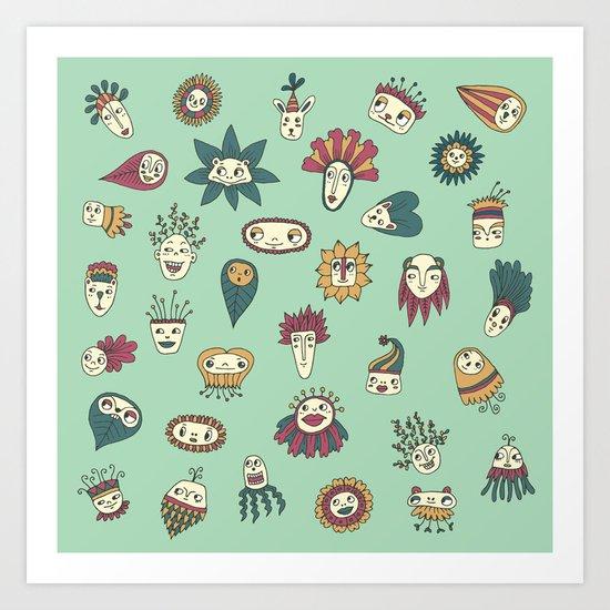 Green Spores Art Print