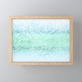 Aqua Seafoam Ocean Glitter #1 #shiny #pastel #decor #art #society6 Framed Mini Art Print